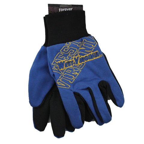 West Virginia Mountaineers Raised Logo Gloves