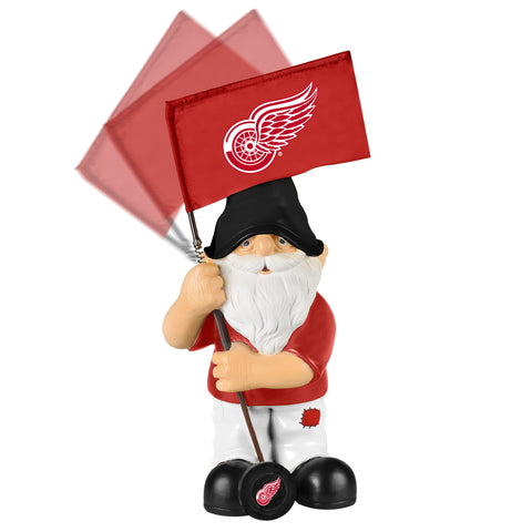 Detroit Red Wings Springy Flag Gnome