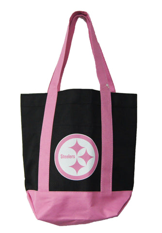 Pittsburgh Steelers Small Pink/ Black Tote