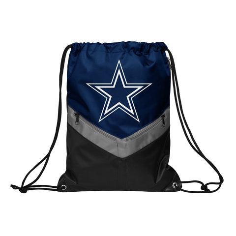 Dallas Cowboys Victory Stripe Zipper Drawstring Backpack