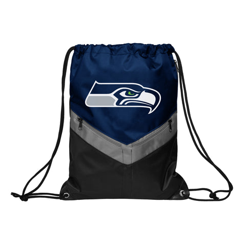 Seattle Seahawks Victory Stripe Zipper Drawstring Backpack