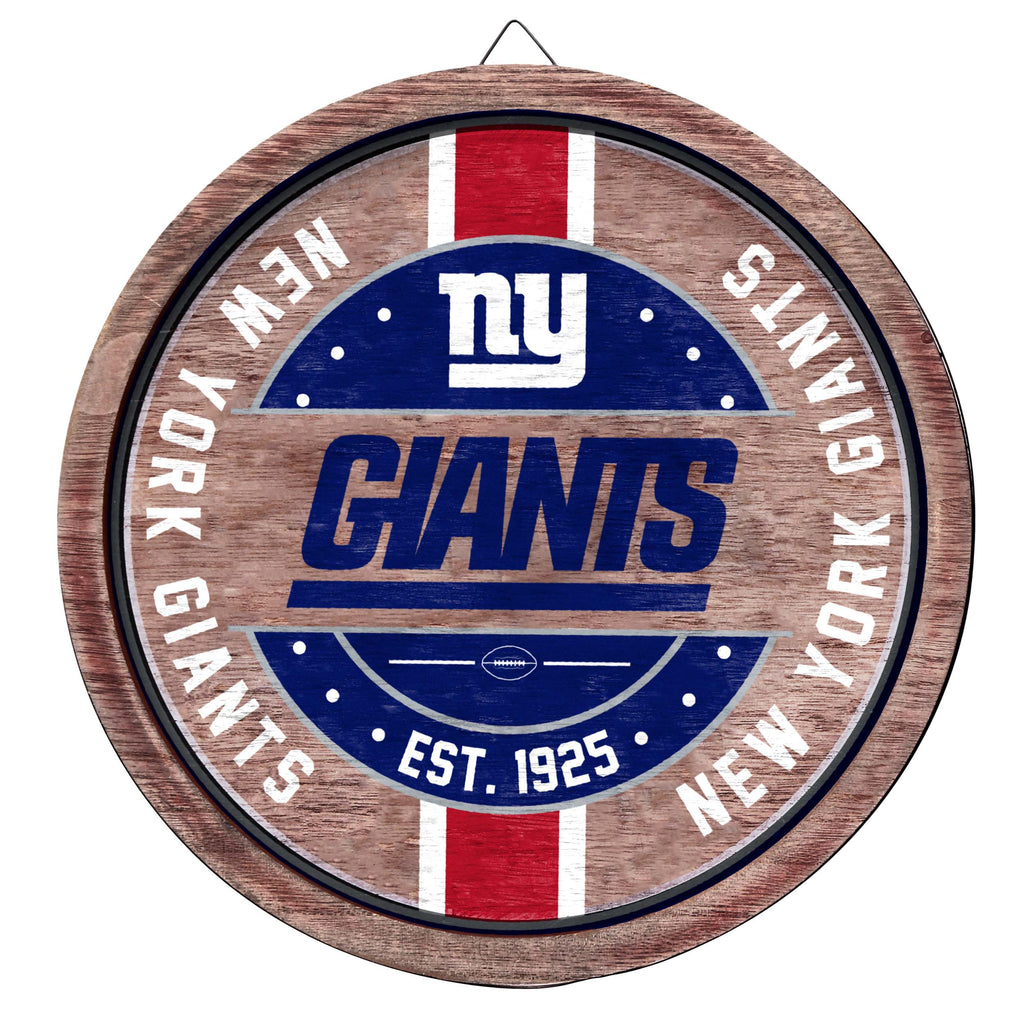 New York Giants Wooden Barrel Sign