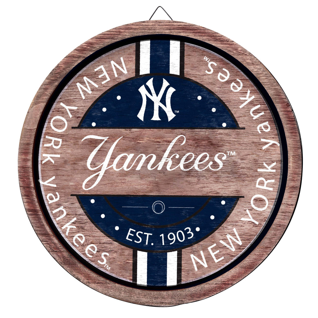 New York Yankees Wooden Barrel Sign