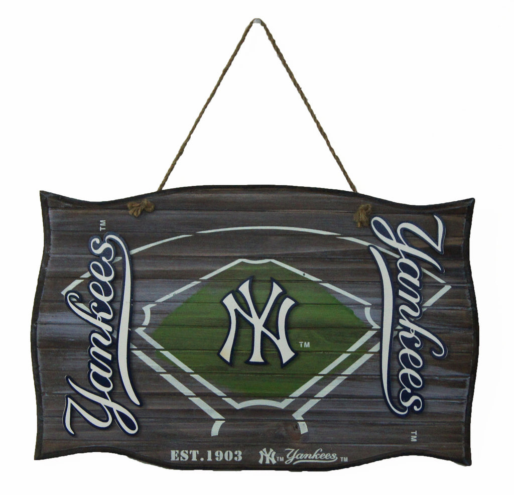 New York Yankees Wood Field Door Sign