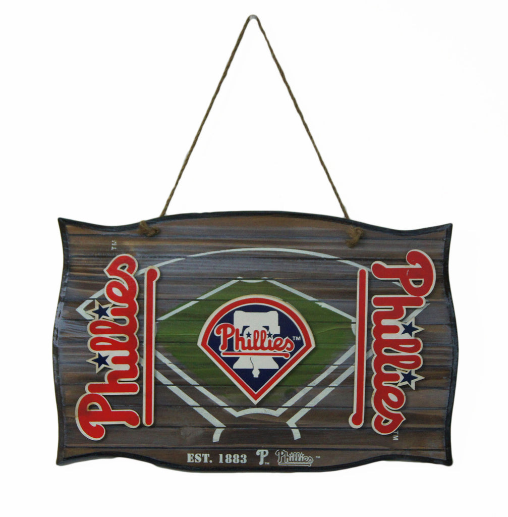 Philadelphia Phillies Wood Field Door Sign