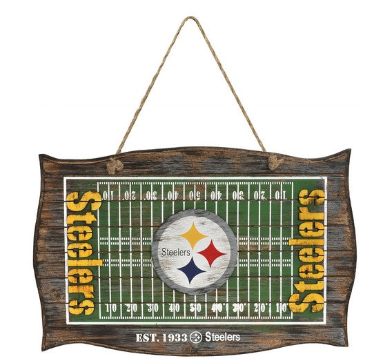Pittsburgh Steelers Wood Field Door Sign