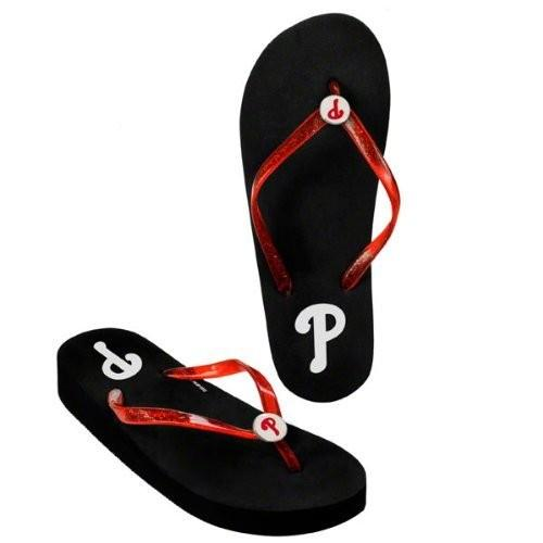 Philadelphia Phillies Wedge Flip Flops