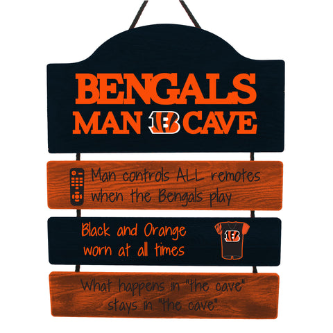 Cincinnati Bengals Wooden Man Cave Sign
