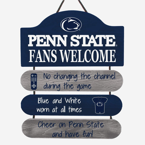 Penn State Nittany Lions Wooden Man Cave Sign