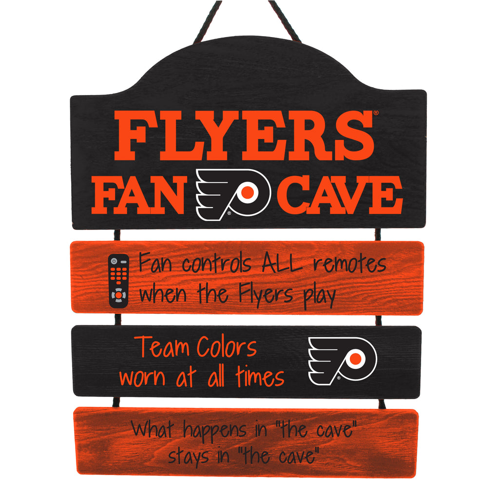 Philadelphia Flyers Wooden Man Cave Sign