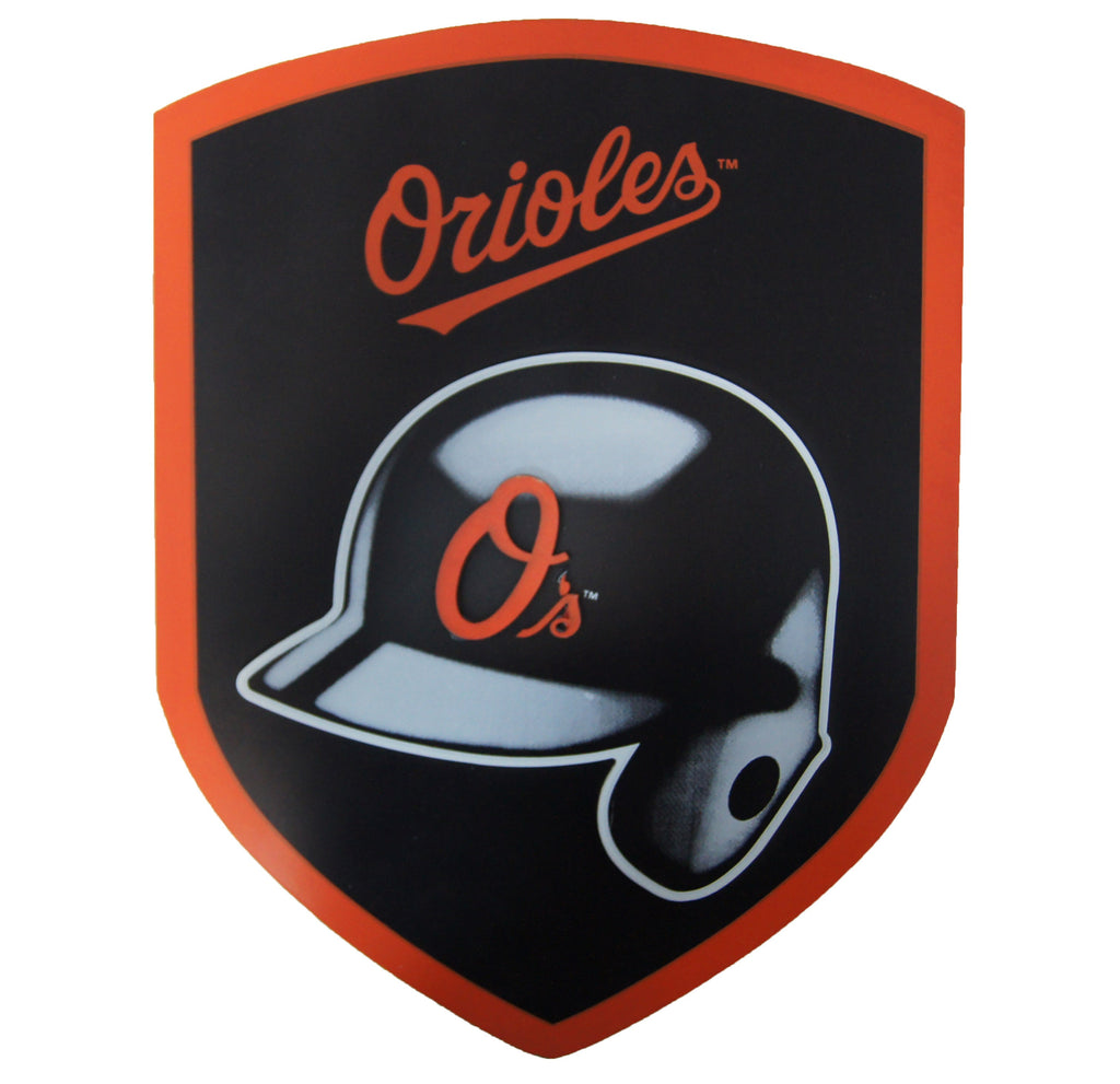 Baltimore Orioles Wood Shield Sign