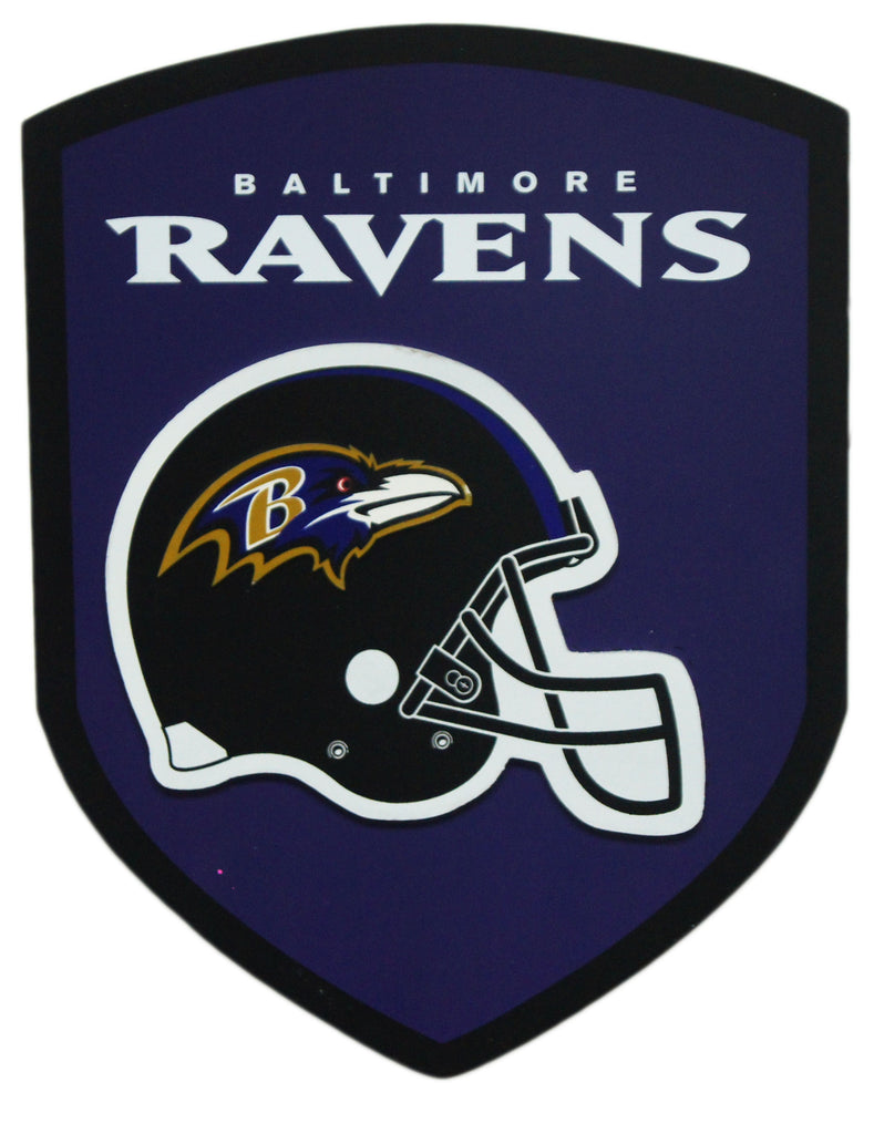 Baltimore Ravens Wood Shield Sign