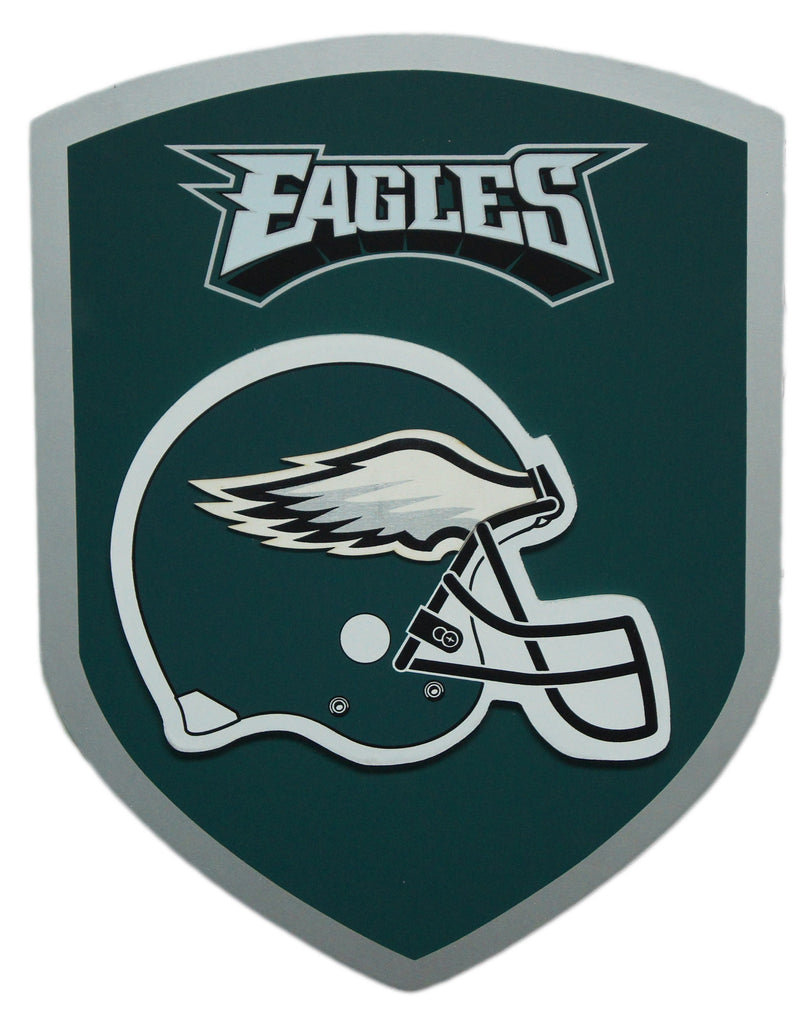 Philadelphia Eagles Wood Shield Sign