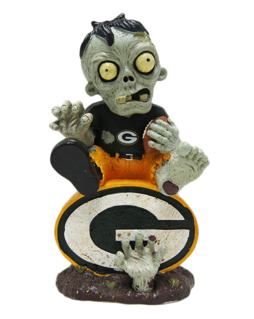 Green Bay Packers Zombie Sitting on Logo