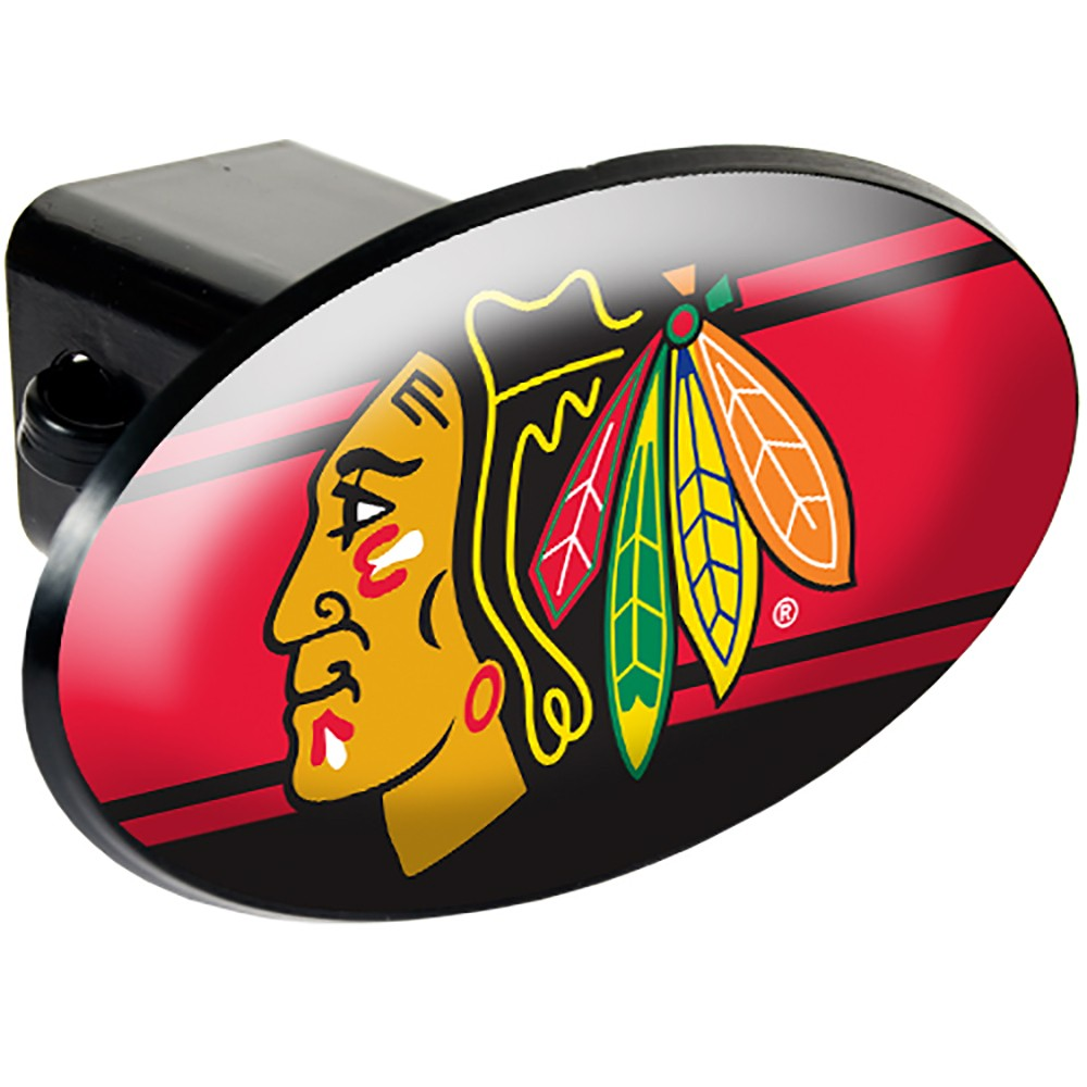 Chicago Blackhawks Oval Hitch Cover