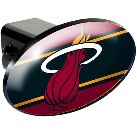 Miami Heat Oval Hitch Cover