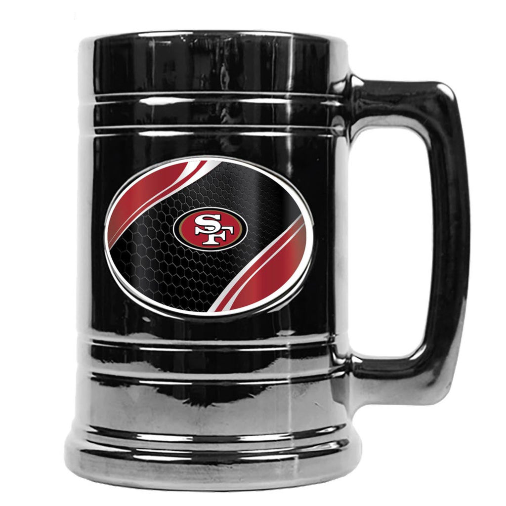 San Francisco 49ers Metallic Chrome Indent Tankard