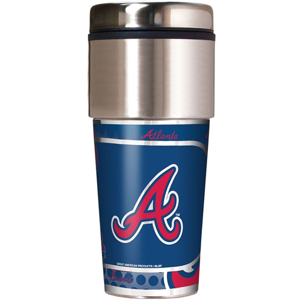 Atlanta Braves Metallic Tumbler