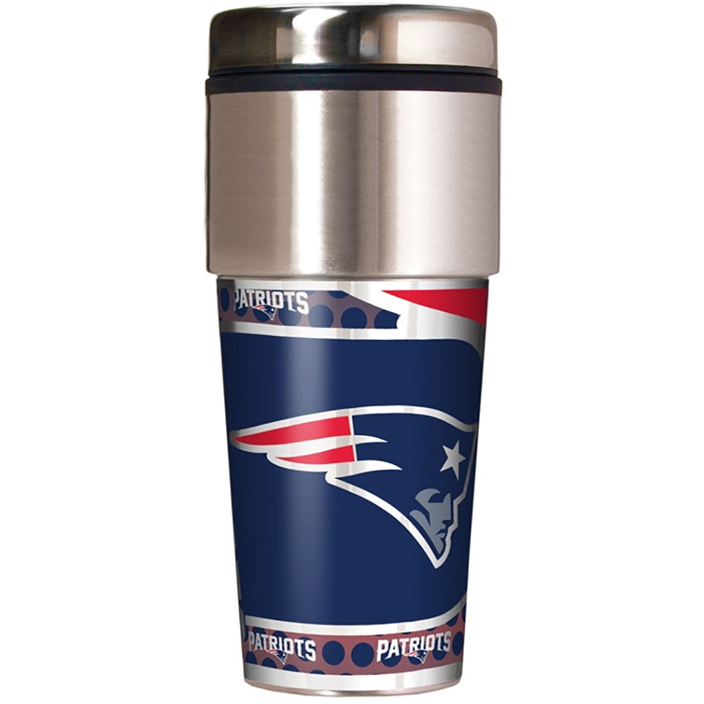 New England Patriots Metallic Tumbler