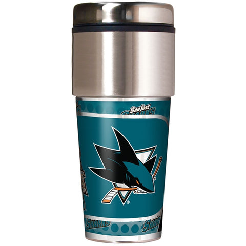San Jose Sharks Metallic Tumbler