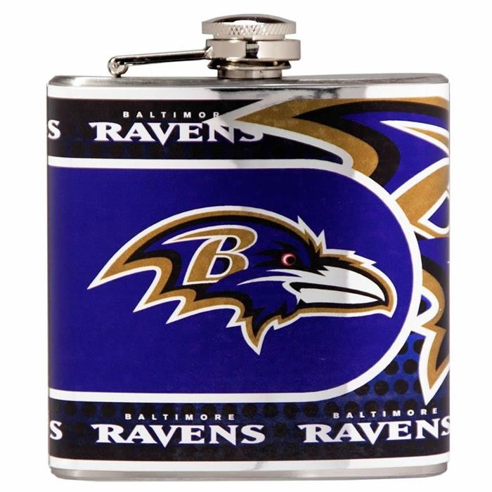 Baltimore Ravens Metallic Wrap Flask