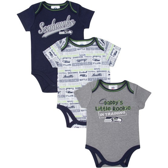 Seattle Seahawks 3pk Bodysuits