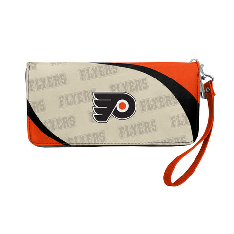 Philadelphia Flyers Curved Zip Organizer Wallet