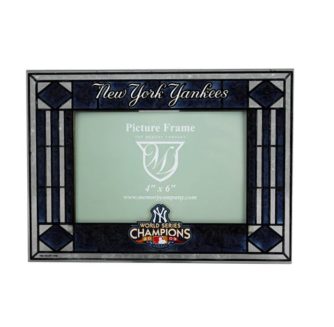 New York Yankees World Series Champions '09 Art Glass Frame (Horizontal)