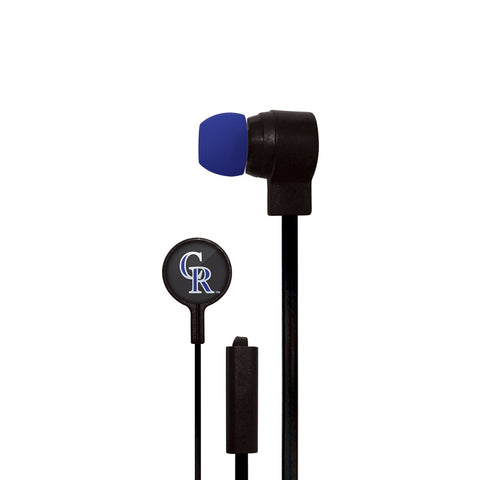 Colorado Rockies Slim Hands Free Ear Buds