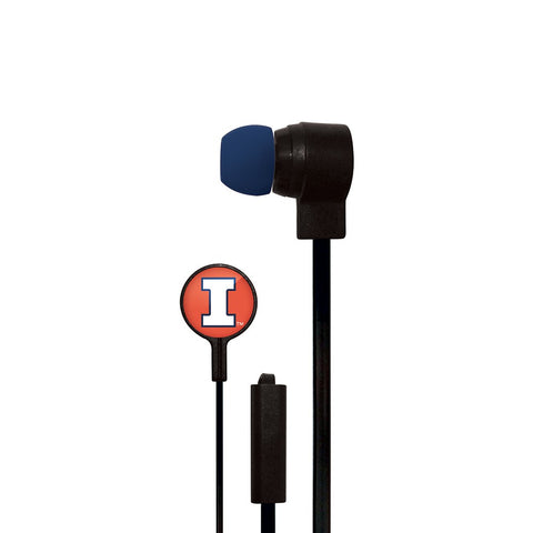 Illinois Fighting Illini Slim Hands Free Ear Buds