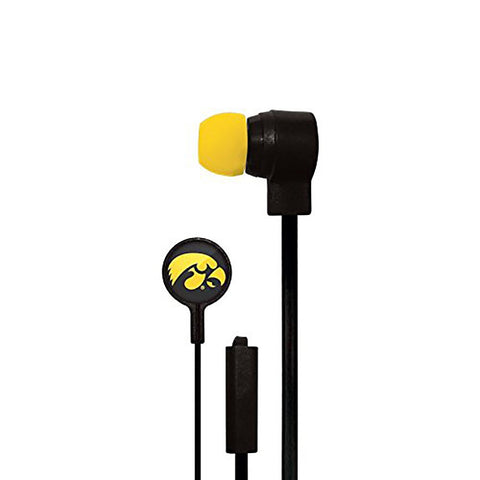 Iowa Hawkeyes Slim Hands Free Ear Buds