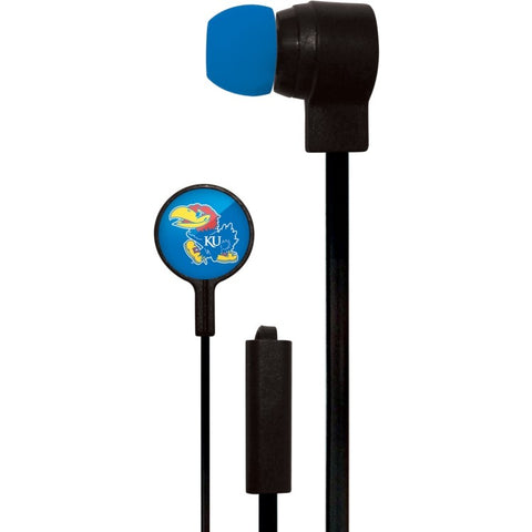 Kansas Jayhawks Slim Hands Free Ear Buds