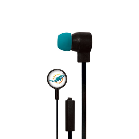 Miami Dolphins Slim Hands Free Ear Buds