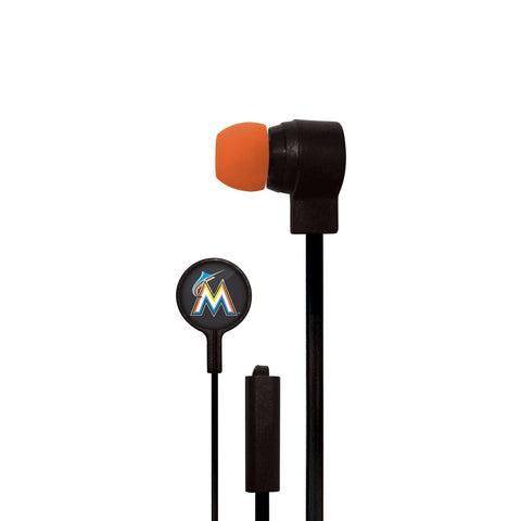 Miami Marlins Slim Hands Free Ear Buds