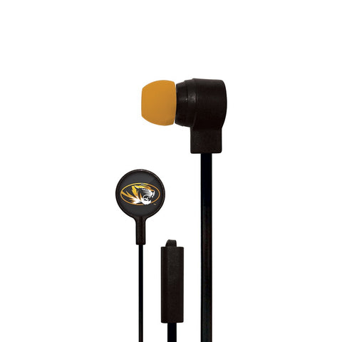 Missouri Tigers Slim Hands Free Ear Buds