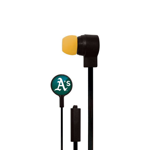 Oakland Athletics Slim Hands Free Ear Buds