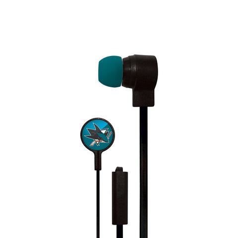 San Jose Sharks Slim Hands Free Ear Buds