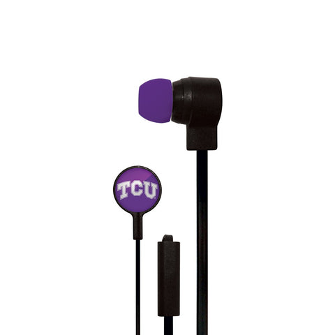TCU Horned Frogs Slim Hands Free Ear Buds