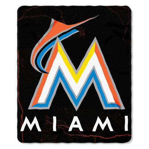 "Miami Marlins 50"" x 60"" Fleece Throw"