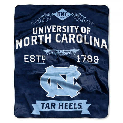 North Carolina Tar Heels Label Royal Plush