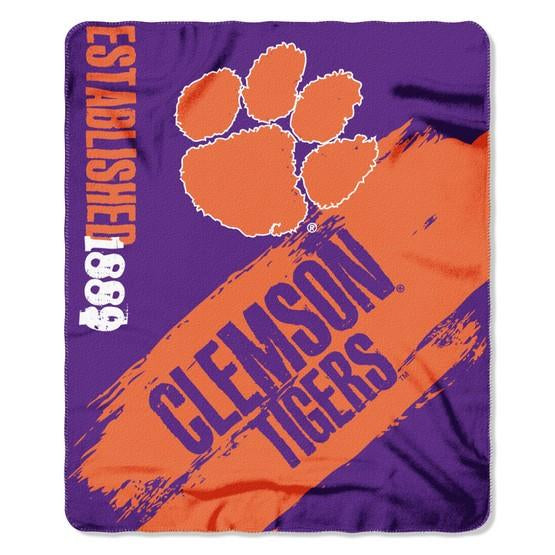 Clemson Tigers Painted Fleece Throw