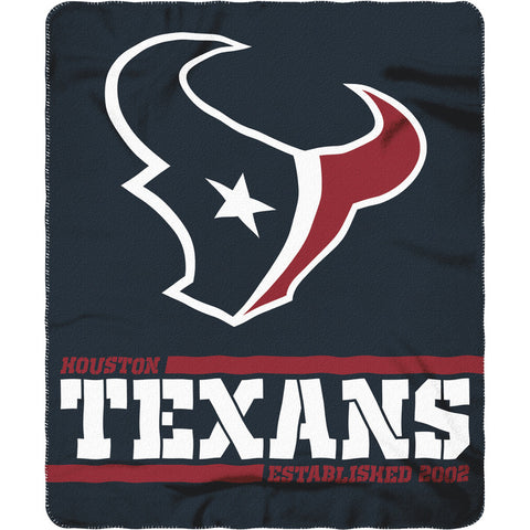 "Houston Texans 50"" x 60"" Split Wide Fleece Throw Blanket"