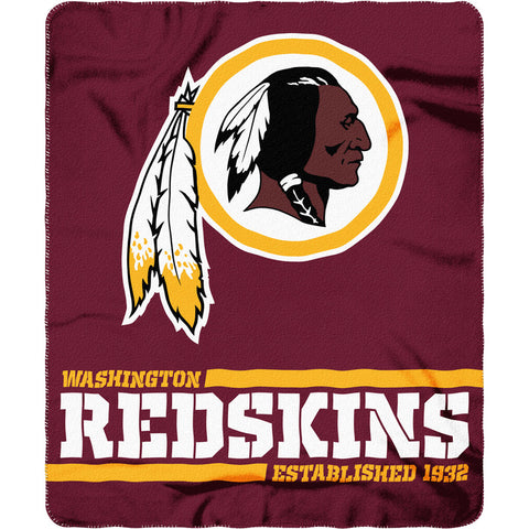 "Washington Redskins 50"" x 60"" Split Wide Fleece Throw Blanket"