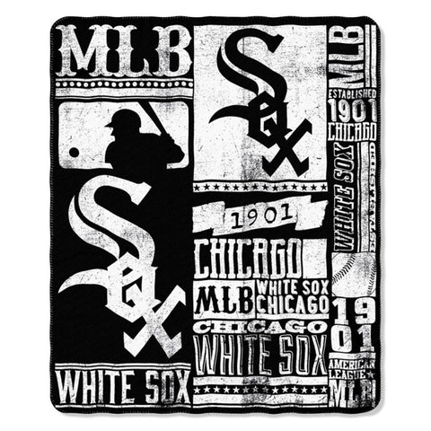 Chicago White Sox Strength Fleece Throw