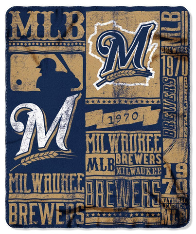 Milwaukee Brewers Strength Fleece Throw