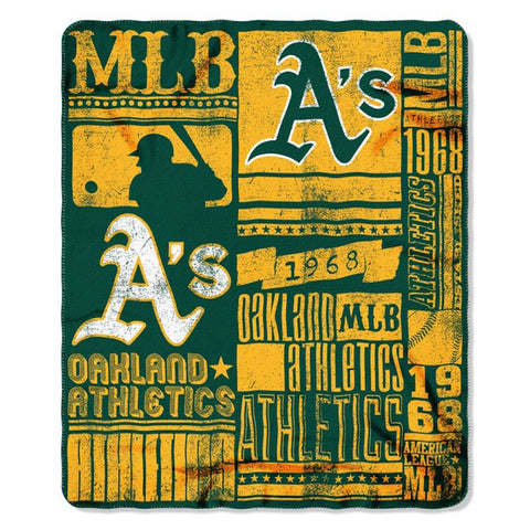 Oakland Athletics Strength Fleece Throw