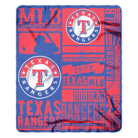Texas Rangers Strength Fleece Throw