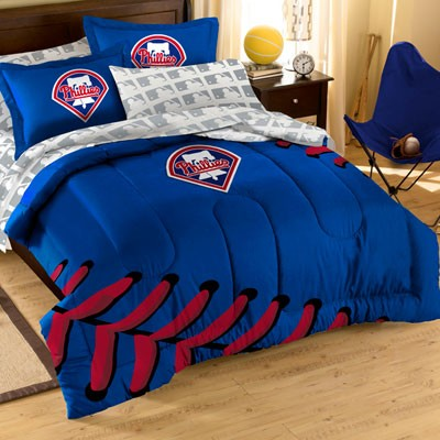 Philadelphia Phillies Applique Bedding Set Full