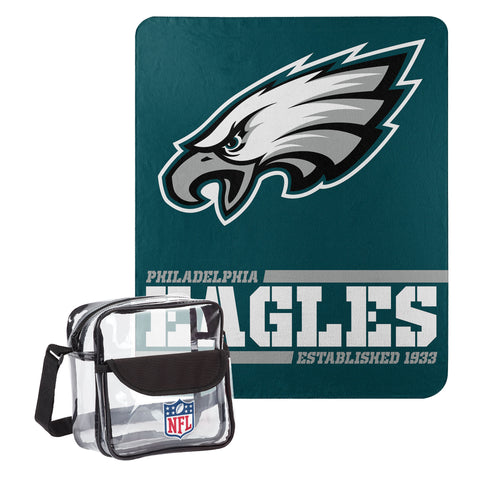 "Philadelphia Eagles Dream Team Tote with 50"" x 60"" Fleece Throw Blanket"