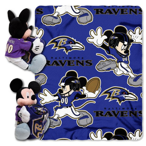 Baltimore Ravens Mickey Hugger W/ Throw